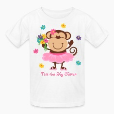 Monkey Big Sister Kids' Shirts
