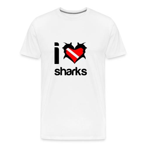 I Love Sharks T-Shirt - Men's Premium T-Shirt