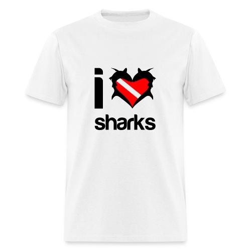 I Love Sharks T-Shirt- - Men's T-Shirt