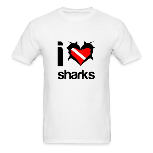 I Love Sharks T-Shirt- - Men's T-Shirt