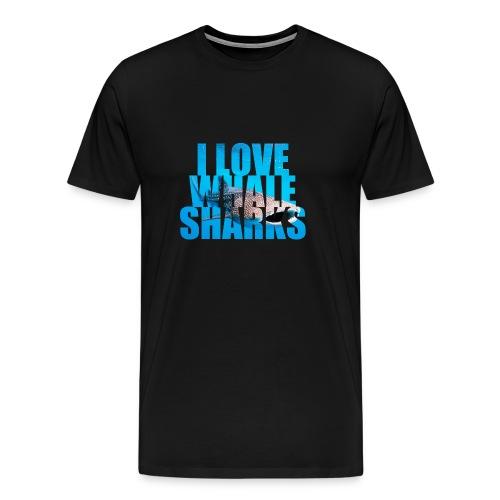 I Love Whale sharks T-Shirt - Men's Premium T-Shirt