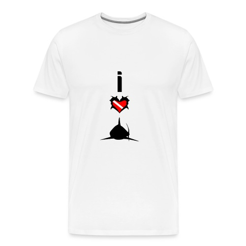 I Love sharks T-Shirt - Men's Premium T-Shirt