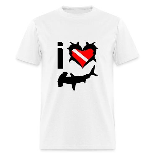 I Love Hammerhead Sharks T-Shirt- - Men's T-Shirt