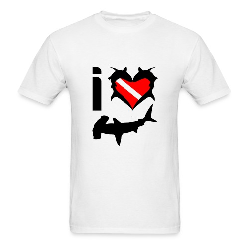 I Love Hammerhead Sharks T-Shirt- - Men's T-Shirt