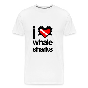 I Love Whale Sharks T-Shirt - Men's Premium T-Shirt