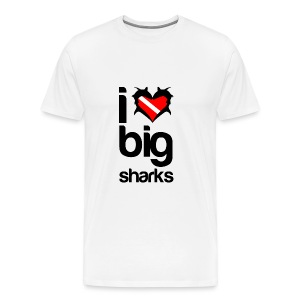 I Love Big Sharks T-Shirt - Men's Premium T-Shirt