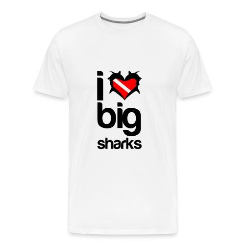 I Love Big Sharks T-Shirt - Men's Premium T-Shirt