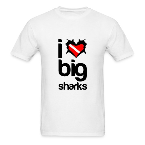 I Love Big Sharks T-Shirt- - Men's T-Shirt
