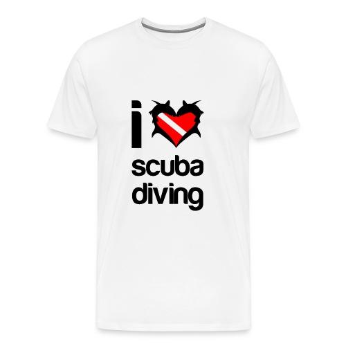 I Love Scuba Diving T-Shirt - Men's Premium T-Shirt