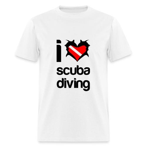 I Love Scuba Diving T-Shirt- - Men's T-Shirt