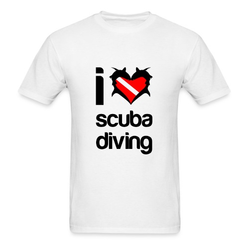 I Love Scuba Diving T-Shirt- - Men's T-Shirt