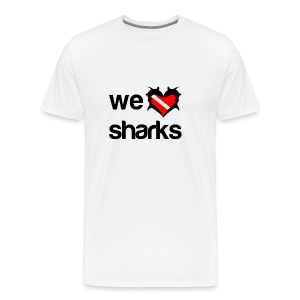 We Love Sharks T-Shirt - Men's Premium T-Shirt