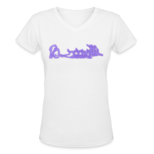 Safe or Out - Purple - Ladies - V-Neck - Women's V-Neck T-Shirt