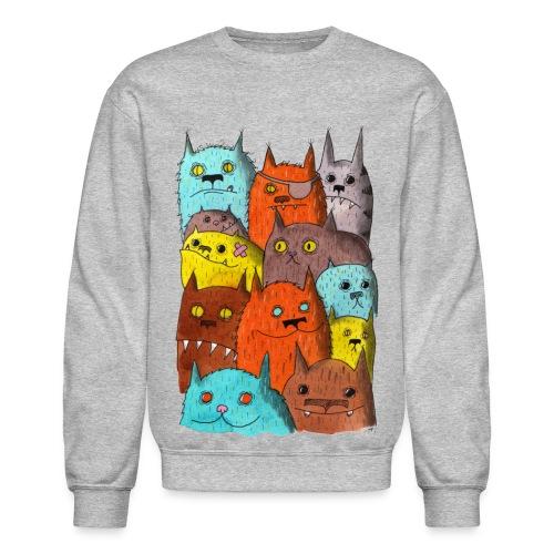 The Cats of Meow Sweatshirt - Crewneck Sweatshirt