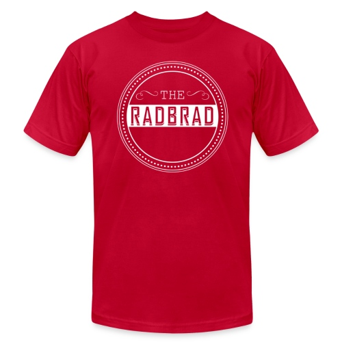Men's TheRadBrad Logo - Men's T-Shirt by American Apparel