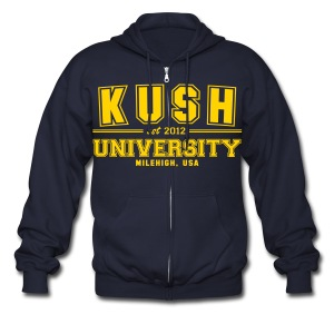 Kush University  - Men's Zip Hoodie