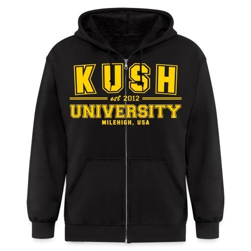 Kush University  - Men's Zip Hoodie