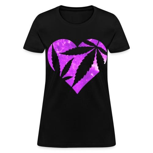 I heart weed  - Women's T-Shirt