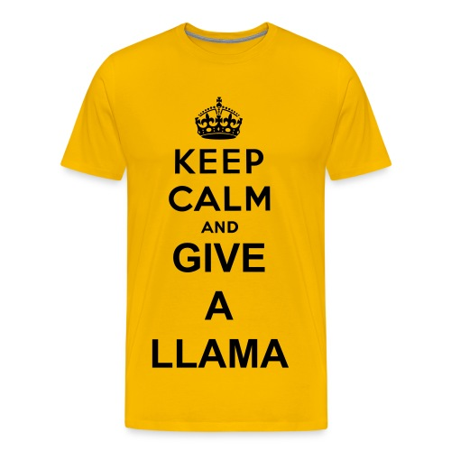 Kepp Calm and give a Llama t-shirt (unisex) - Men's Premium T-Shirt