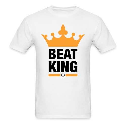Beat King White Tee - Men's T-Shirt