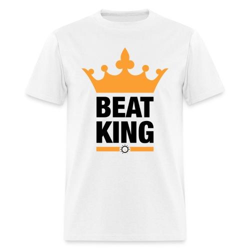 Beat King White Tee - Men's T-Shirt