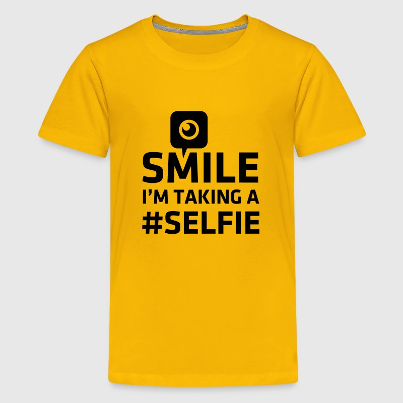 Love taking Selfie photo camera instagram smile Kids' Shirts - Kids' Premium T-Shirt