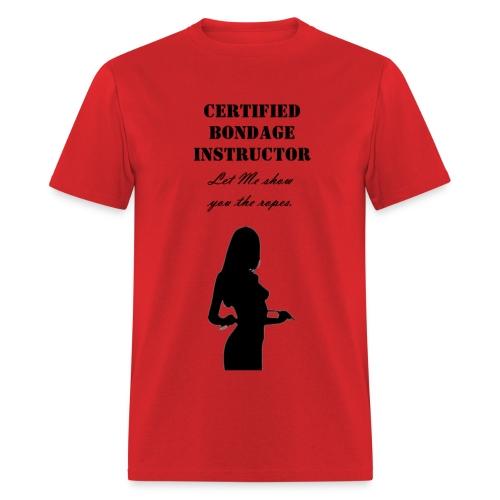 certified bondage instructor  mens shirt - Men's T-Shirt