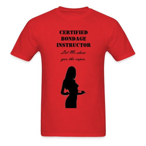 certified bondage instructor  mens shirt - Men's T-Shirt