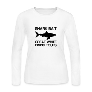 Shark Bait Great White Shark  - Women's Long Sleeve Jersey T-Shirt