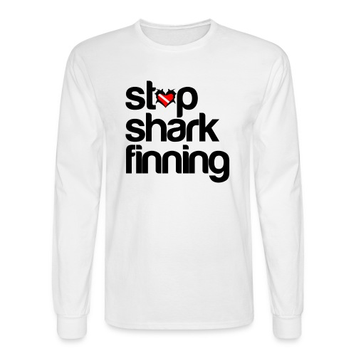 Stop Shark Finning  - Men's Long Sleeve T-Shirt
