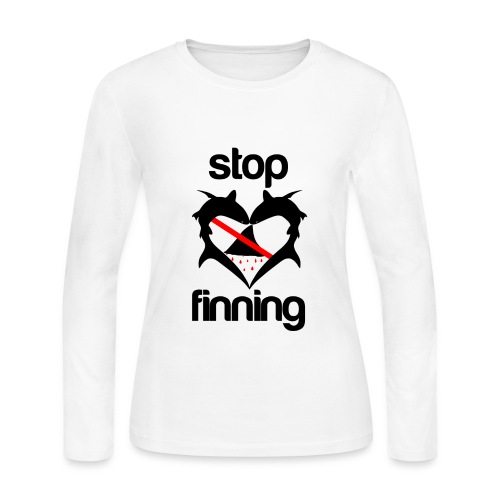 Stop Shark Finning  - Women's Long Sleeve Jersey T-Shirt