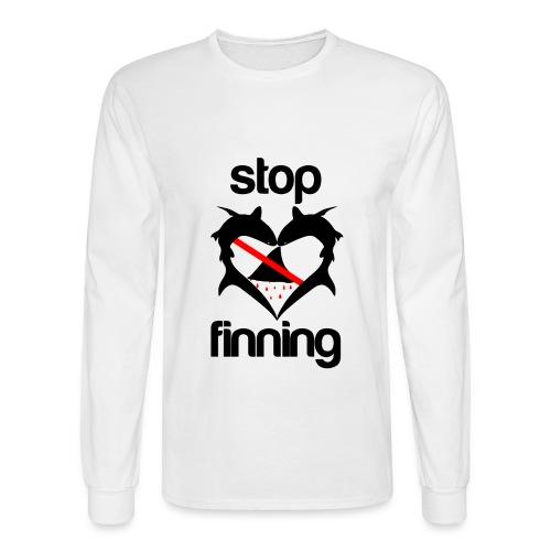 Stop Shark Finning  - Men's Long Sleeve T-Shirt