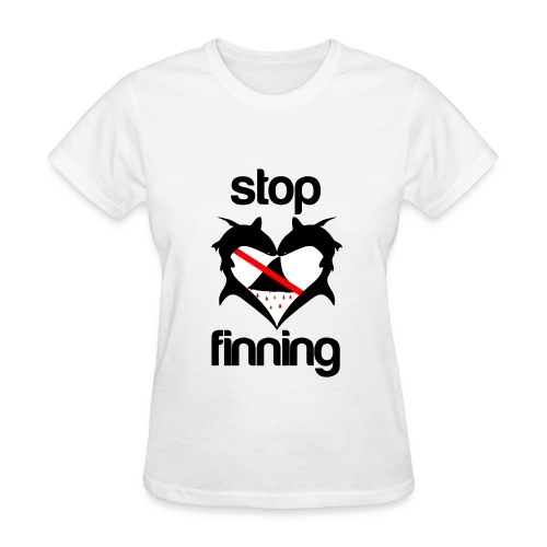 Stop Shark Finning  - Women's T-Shirt