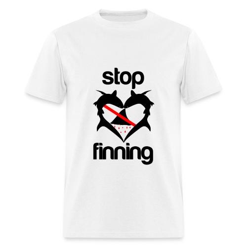 Stop Shark Finning- - Men's T-Shirt