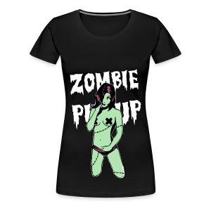 womens zombie pinup shirt - Women's Premium T-Shirt