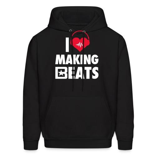 I Heart Making Beats Hoodie - Men's Hoodie