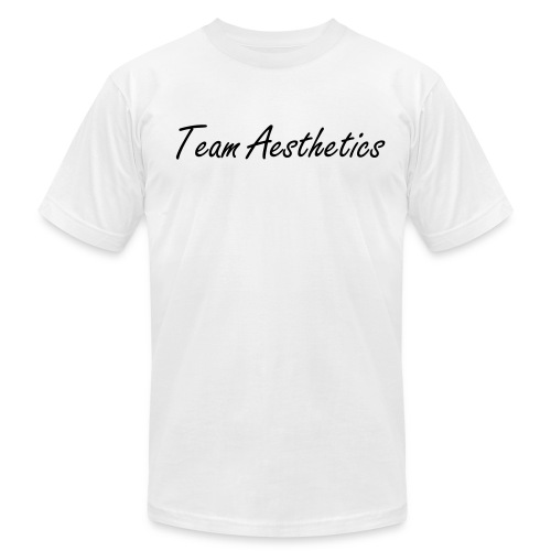 the Team Aesthetics Crew Fit (Black) - Men's Fine Jersey T-Shirt