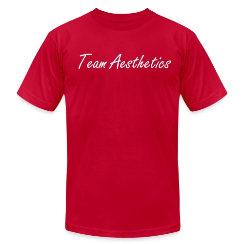 the Team Aesthetics Crew Fit (White) - Men's Fine Jersey T-Shirt