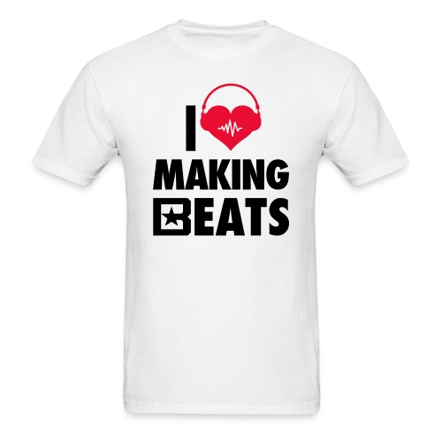 I Heart Making Beats - Men's T-Shirt