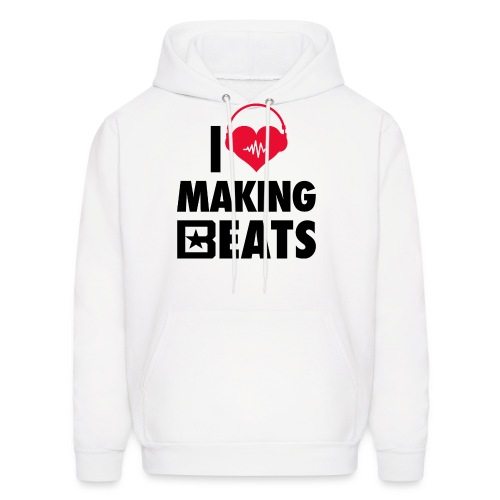 I Heart Making Beats - Men's Hoodie