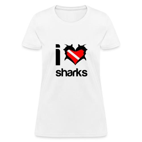 I Love Sharks T-Shirt - Women's T-Shirt