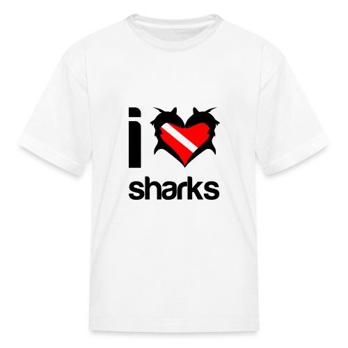 I Love Sharks T-Shirt - Kids' T-Shirt