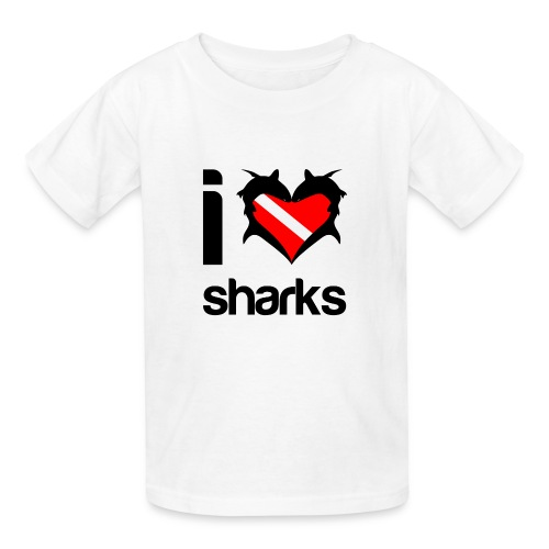 I Love Sharks T-Shirt - Kids' T-Shirt