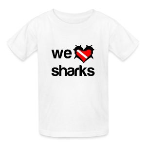We Love Sharks T-Shirt - Kids' T-Shirt