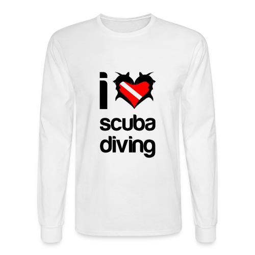I Love Scuba Diving T-Shirt - Men's Long Sleeve T-Shirt