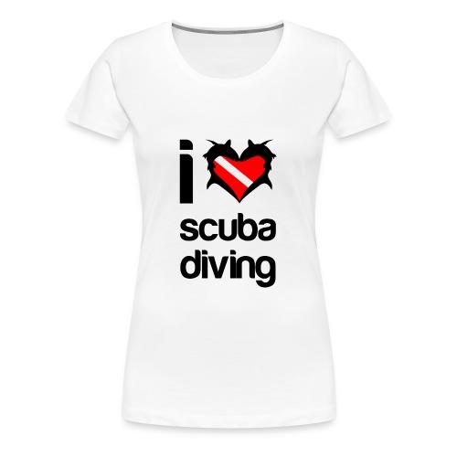 I Love Scuba Diving T-Shirt - Women's Premium T-Shirt