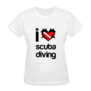 I Love Scuba Diving T-Shirt - Women's T-Shirt
