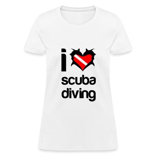 I Love Scuba Diving T-Shirt - Women's T-Shirt