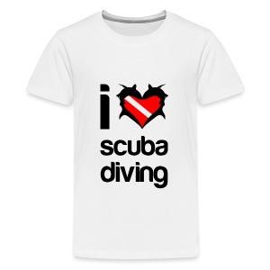 I Love Scuba Diving T-Shirt - Kids' Premium T-Shirt