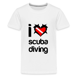 I Love Scuba Diving T-Shirt - Kids' Premium T-Shirt